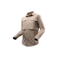 Koszula długi rękaw DESERT 500. Brązowe koszule damskie FORCLAZ, z długim rękawem. Za 99.99 zł.