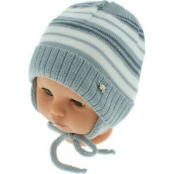 Czapka niemowlęca podszyta bawełną cz-059D szara. Czapki dla dzieci marki Reserved. Za 29.56 zł.