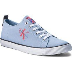 Tenisówki CALVIN KLEIN JEANS - Arnold S1483 Light Blue. Niebieskie trampki męskie Calvin Klein Jeans, z gumy. W wyprzedaży za 239.00 zł.