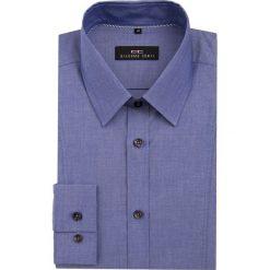 Koszula MICHELE KDNE000044. Niebieskie koszule męskie Giacomo Conti, z bawełny, z klasycznym kołnierzykiem. Za 199.00 zł.