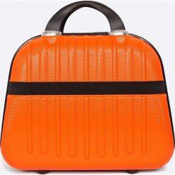 VIP COLLECTION - Walizka 12 L. Czerwone walizki męskie VIP COLLECTION, z materiału. W wyprzedaży za 119.90 zł.