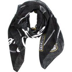 Chusta GUESS - AW7711 POL03  CMT. Czarne szaliki i chusty damskie Guess, z materiału. Za 219.00 zł.