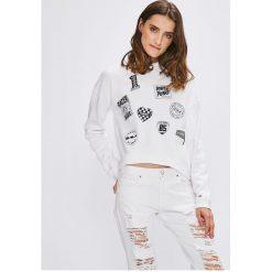 Tommy Jeans - Bluza. Szare bluzy damskie Tommy Jeans, z nadrukiem, z bawełny. W wyprzedaży za 239.90 zł.