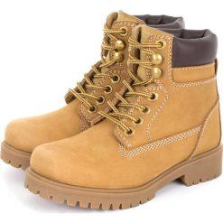 """Skórzane botki """"Lander"""" w kolorze karmelowym. Botki dziewczęce Zimowe obuwie dla dzieci. W wyprzedaży za 125.95 zł."""