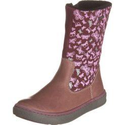 Skórzane kozaki w kolorze fioletowym. Buty zimowe dziewczęce Zimowe obuwie dla dzieci. W wyprzedaży za 172.95 zł.