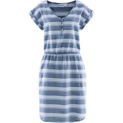 Sukienka bonprix niebieski dżins - biały w paski. Niebieskie sukienki damskie bonprix, w paski. Za 37.99 zł.