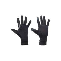 Rękawiczki do biegania dotykowe. Czarne rękawiczki damskie KALENJI, na zimę. Za 19.99 zł.
