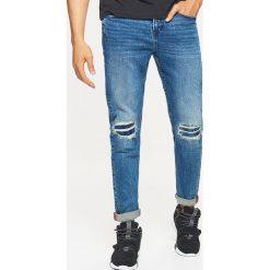 Jeansy COMFORT - Granatowy. Niebieskie jeansy męskie Cropp. Za 129.99 zł.