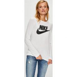 Nike Sportswear - Bluzka. Szare bluzki damskie Nike Sportswear, z nadrukiem, z dzianiny, z okrągłym kołnierzem. W wyprzedaży za 139.90 zł.
