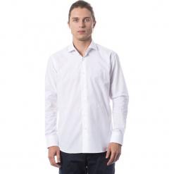 Koszula w kolorze białym. Białe koszule męskie Roberto Cavalli, Trussardi, z klasycznym kołnierzykiem. W wyprzedaży za 329.95 zł.