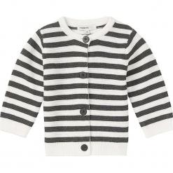 """Kardigan """"Godfrey"""" w kolorze czarno-białym. Swetry dla chłopców marki Reserved. W wyprzedaży za 62.95 zł."""