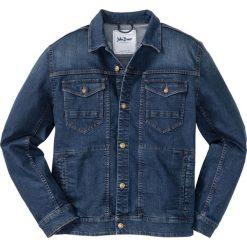 Kurtka dżinsowa Regular Fit bonprix ciemnoniebieski. Niebieskie kurtki męskie bonprix. Za 169.99 zł.