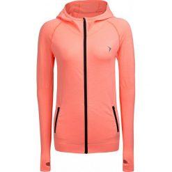 Bluza treningowa damska BLDF600 - koral neon - Outhorn. Różowe bluzy damskie Outhorn, na lato, z materiału. W wyprzedaży za 79.99 zł.