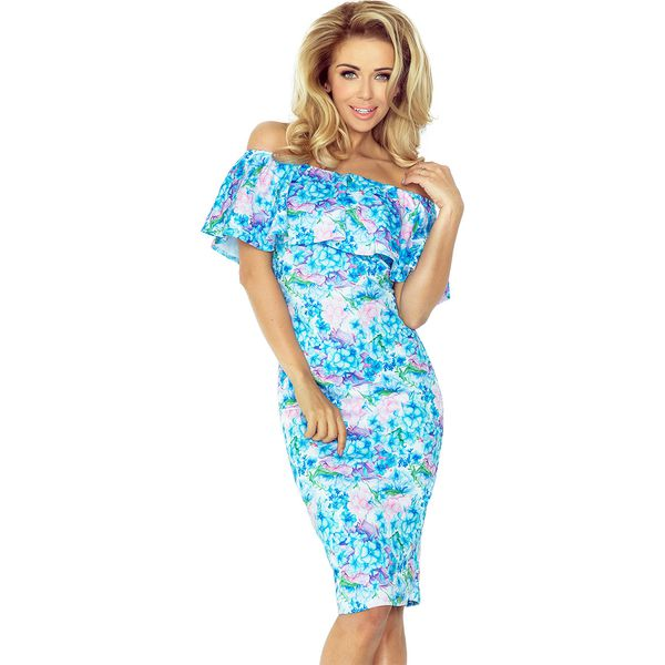30cc4ee26826fd Dalia. Dopasowana sukienka w stylu hiszpańskim, z falbaną na ...
