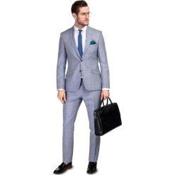 Garnitur LEONARDO GXSS900089. Niebieskie garnitury męskie Giacomo Conti, z wełny. Za 999.00 zł.