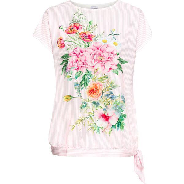 db15a9c5a Shirt z nadrukiem bonprix jasnoróżowo-biały z nadrukiem - T-shirty damskie  bonprix. Za 54.99 zł. - T-shirty damskie - T-shirty i topy damskie - Odzież  ...
