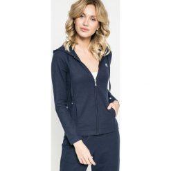 Lauren Ralph Lauren - Bluza pizamowa. Szare piżamy damskie Lauren Ralph Lauren, z bawełny. W wyprzedaży za 239.90 zł.