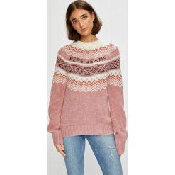 Pepe Jeans - Sweter Alina. Szare swetry damskie Pepe Jeans, z dzianiny, z okrągłym kołnierzem. Za 359.90 zł.