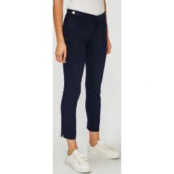 U.S. Polo - Spodnie. Szare spodnie materiałowe damskie U.S. Polo, z haftami, z bawełny. W wyprzedaży za 299.90 zł.