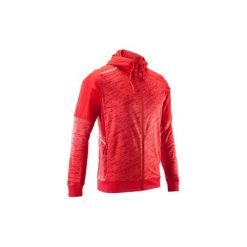 Bluza do biegania RUN WARM+ męska. Czerwone bluzy męskie KALENJI. Za 119.99 zł.