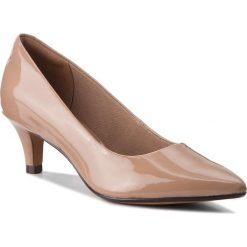 Półbuty CLARKS - Linvale Jerica 261381984  Nude Patent. Brązowe półbuty damskie Clarks, z lakierowanej skóry, eleganckie. W wyprzedaży za 229.00 zł.
