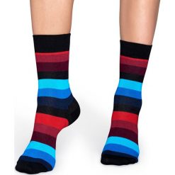 Happy Socks - Skarpetki Stripe. Szare skarpety damskie Happy Socks, z bawełny. Za 39.90 zł.