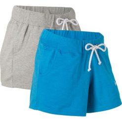 Szorty dresowe (2 pary) bonprix niebieski morski + jasnoszary melanż. Spodnie dresowe damskie marki KIPSTA. Za 75.98 zł.