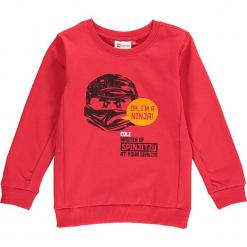 """Bluza """"Sebastian 717"""" w kolorze czerwonym. Zielone bluzy dla chłopców marki Lego Wear Fashion, z bawełny, z długim rękawem. W wyprzedaży za 82.95 zł."""
