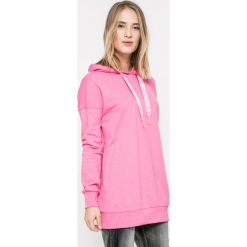 Vero Moda - Bluza. Różowe bluzy damskie Vero Moda, z bawełny. W wyprzedaży za 79.90 zł.