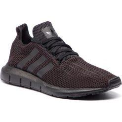 Buty adidas - Swift Run AQ0863 CblackCblack/Ftwwht. Czarne buty sportowe męskie Adidas, z materiału. Za 379.00 zł.