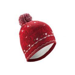 Czapka narciarska JACQUARD. Czerwone czapki i kapelusze damskie WED'ZE. Za 39.99 zł.