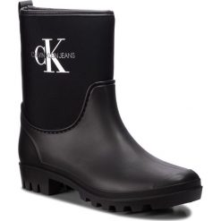 Kalosze CALVIN KLEIN JEANS - Philippa RE9811 Black. Czarne kozaki damskie Calvin Klein Jeans, z jeansu. Za 509.00 zł.