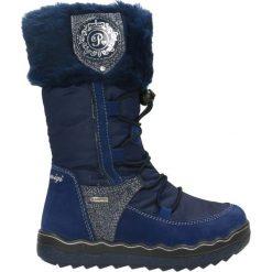 Kozaki Primigi. Niebieskie buty zimowe dziewczęce Gino Rossi. W wyprzedaży za 269.90 zł.