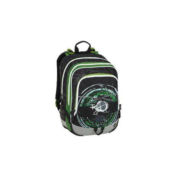 c50cc11c86583 Plecak szkolny czarny + zielony + szary BAGMASTER ALFA 9 D BLACK ...
