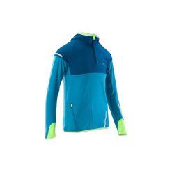 Bluza KIPRUN WARM. Niebieskie bluzy dla chłopców KALENJI, z długim rękawem. Za 69.99 zł.