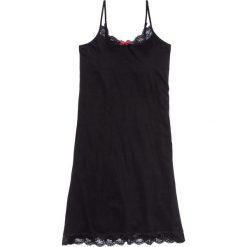 Koszula nocna na cienkich ramiączkach bonprix czarny. Czarne koszule nocne damskie bonprix, w koronkowe wzory, z koronki. Za 44.99 zł.