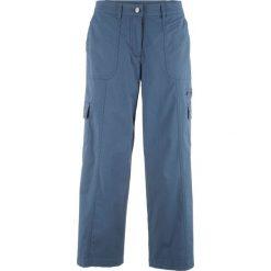 """Spodnie 7/8 """"papertouch"""", szerokie nogawki bonprix indygo. Spodnie materiałowe damskie marki DOMYOS. Za 89.99 zł."""