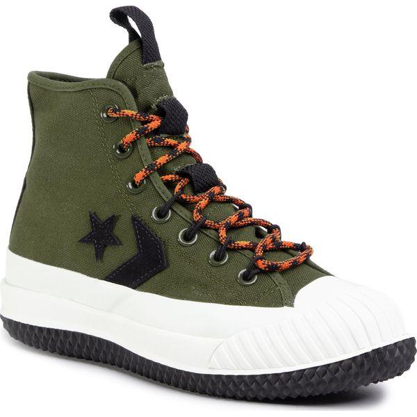 Sneakersy CONVERSE Bosey Mc Hi 166222C Surplus OliveCampfire Orange