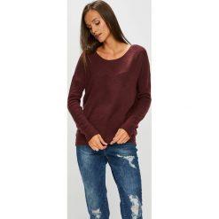 Review - Sweter. Brązowe swetry damskie Review, z bawełny, z okrągłym kołnierzem. Za 99.90 zł.