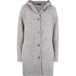 Długi sweter rozpinany z puszystej przędzy bonprix antracytowy melanż. Kardigany damskie marki KALENJI. Za 79.99 zł.