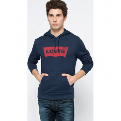Levi's - Bluza. Szare bluzy męskie Levi's, z nadrukiem, z bawełny. W wyprzedaży za 219.90 zł.