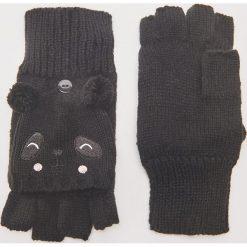 Rękawiczki typu mitenki - Czarny. Czarne rękawiczki damskie House. Za 35.99 zł.
