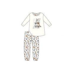 Piżama Young Girl 031/98 Lovely Cats ecru r. 164. Szare bielizna dla dziewczynek Cornette. Za 61.67 zł.