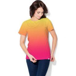 Colour Pleasure Koszulka CP-030  71 żółto-malinowa r. M/L. Bluzki damskie Colour Pleasure. Za 70.35 zł.
