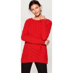Sweter z wełną - Czerwony. Czerwone swetry damskie Mohito, z wełny. Za 119.99 zł.