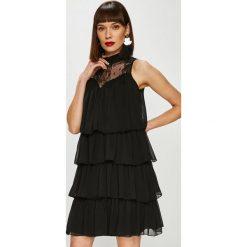 Trendyol - Sukienka. Czarne sukienki damskie Trendyol, z koronki, casualowe. Za 159.90 zł.