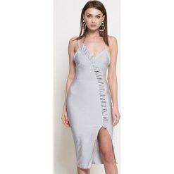 Missguided - Sukienka. Szare sukienki damskie Missguided, casualowe. W wyprzedaży za 119.90 zł.