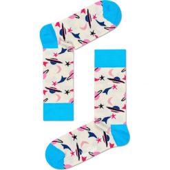 Happy Socks - Skarpetki Space. Szare skarpety damskie Happy Socks, z bawełny. W wyprzedaży za 29.90 zł.