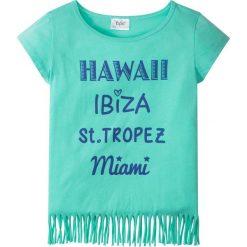 T-shirt z frędzlami bonprix mentolowy niebieski. T-shirty damskie marki Pulp. Za 22.99 zł.