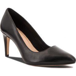Szpilki CLARKS - Laina Rae 261351744 Black Leather. Czarne szpilki damskie Clarks, z materiału. W wyprzedaży za 279.00 zł.